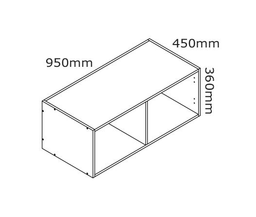 kitchen overhead cabinet 950mm