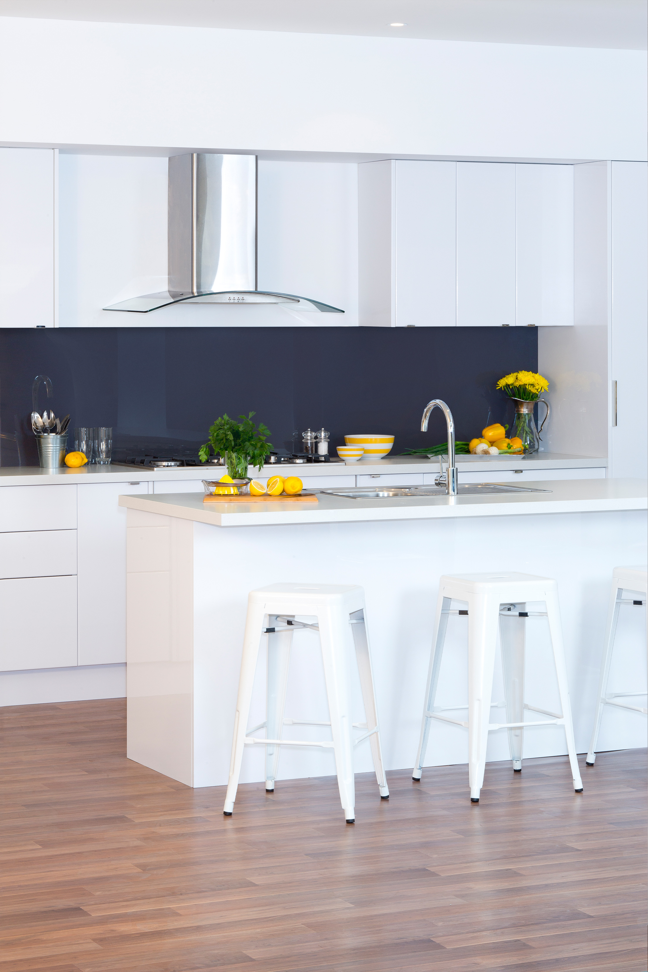 Simple symmetry kaboodle kitchen for Flat pack kitchen cabinets
